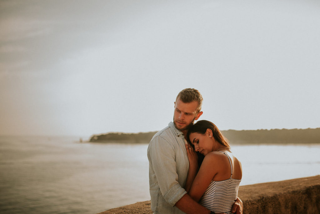golden island engagement session